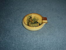 RARE VINTAGE CARLTON WARE DOUBLE CIGARETTE ASHTRAY 'IN MEMORY OF SAM'.
