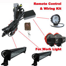 LED HID Work Driving Light Bar Remote Control Wiring Loom Harness Switch kit 12V
