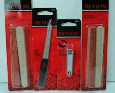 Revlon Manicure Pedicure Nail Tools Implements Lot of 4 Files Nail Clipper New