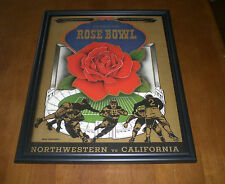 1949 ROSE BOWL PROGRAM FRAMED 11x14 PRINT - NORTHWESTERN vs CALIFORNIA