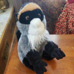"Fiesta White Bearded Gibbons Monkey Plush 10"" 2010"