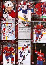 2015-16 UD Upper Deck Canadiens Master Team Set Canvas YG Portraits SS (37)