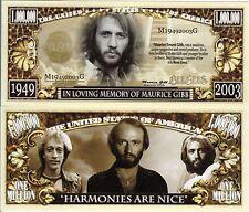 Maurice Gibb - Bee Gees - in Loving Memory of Million Dollar Novelty Money