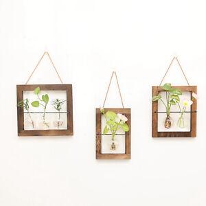 Wall Hanging Propagation Station Vase Glass Planter Tubes Ornament Terrarium
