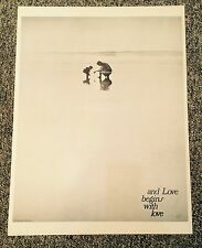 "Vintage 1970's  Hippie Love Poster ""And Love begins with Love"""