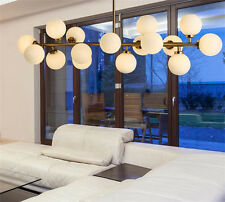 Modern Round Glass DNA LED Bronze Chandelier Pendant Lamp Ceiling lamp Fixture