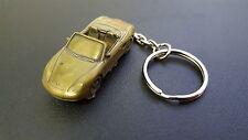 Porsche Boxster Brass Effect 3D split-ring keyring FULL CAR ref192