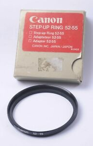 Genuine Canon Step Up Ring 52-55mm