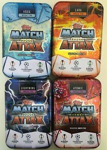 Topps Match Attax Champions League 2021/22 ALL 4 EMPTY classic mega tins