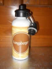 New Longaberger Bottle with 2 Lids and Carabiner
