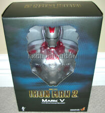 """2010 Hot Toys 1/4th Scale Iron Man 2 Movie 9"""" Mark V (5) Bust Canadian"""