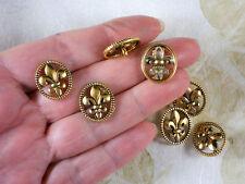 10 Buttons Fleur de Lis Gold Tone NOLA Saints Also makes great Clasp #P1479