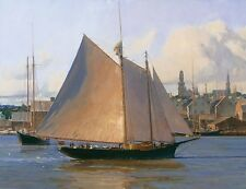 """""""Afternoon Arrival, Gloucester"""" Christopher Blossom Fine Art Giclee Canvas"""
