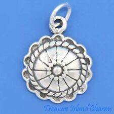 NATIVE AMERICAN CONCHO .925 Sterling Silver Charm Pendant MADE IN USA