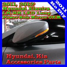 Genuine RH Folding LED Lamp Power Side Mirror 1ea For 12 ~ 2014+ Hyundai Elantra