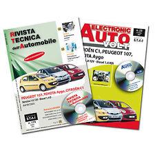 1 Manuale tecnico riparazione/manutenzione + 1 Manuale Diagnosi Auto Citroen C1