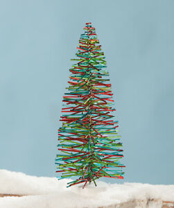 "Bethany Lowe ""Jolly Fun Tree"" (12"" Holiday Tree) with PVC Straw-type Branches"