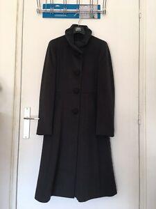 CINZIA ROCCA: Neuf Manteau gris 100% laine T.36