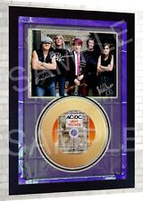 ACDC AC/DC High Voltage Mini Gold Vinyl CD Record Signed Framed Photo Print #4
