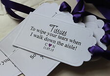 GROOM SURVIVAL KIT TAGS-Personalised-Husband to Be-Set of 6-Wedding-White Card