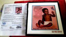 MUHAMMAD ALI Rare Signed (Framed) Advertisement/Magazine Photo -JSA LOA #X64084