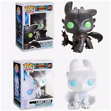 Funko Pop! Toothless & Light Fury How To Train Your Dragon 3 Preorder+Protectors
