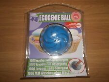 ECOGENIE WASH BALL 1000 WASHES WITHOUT DETERGENT - ECO FRIENDLY NEW