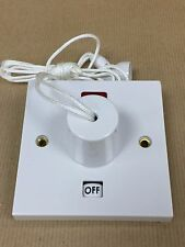 Shower Pull Cord Ceiling Switch with Neon 45amp  and Surface Pattress Back Box