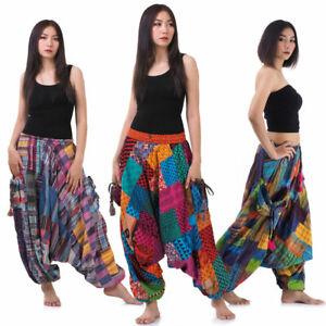 Vegan & Fair - Bunte Thai Haremshose Hippie Hose Aladinhose Pumphose Ballonhose
