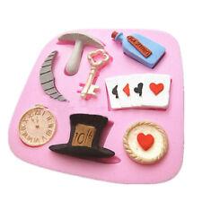 cake silicone molds alice in wonderland cupcake sugarcraft mould baking tools Jz