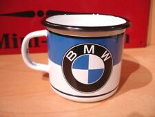 PLAQUE EMAILLEE TASSE cafe mug LOGO BMW MOTO coffee cup tin enamel