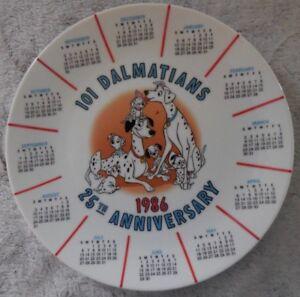 Disney 1986 Calendrier 101 Dalmatiens de Collection Plaque 25th Anniversaire