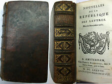 1687 Nouvelles de la Republic of Letters - from july to december included