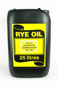Fully Synthetic Compressor Oil 100 25LTR