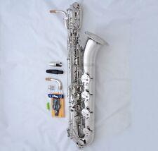 Professional Silver nickel TaiShan Baritone Saxophone With Abalone Shell Key Sax