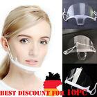 10X Mund Nasen Visier transparent Gesichtsmaske Gesichtsschutz Gesichtsvisier DE