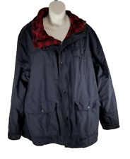 Woolrich Men's Transition Lined Mountain Parka 16204 Black w Red Plaid Lining