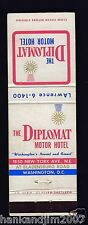 The Diplomat Hotel Washington DC Vintage Matchbook Cover