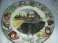 Royal Doulton William Shakespeare Portrait Plate[*RD43]