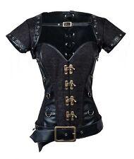 Women's Spiral Steel Boned Goth Retro Overbust Steampunk Bustier Corset
