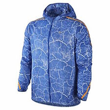 Size Large L Nike Mens Impossibly Light Crackled Full Zip Running Jacket Blue