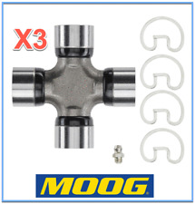 3 Premium Driveshaft Universal Joint Front/Center/Rear Moog Greasable Expedited