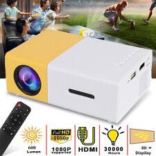 Portable 1080P Home Projector USB HDMI AV SD HD LED Mini Theater Cinema Movie UK