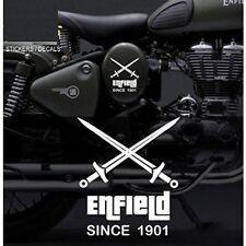 Custom crossed swords vinyl sticker/ decal for royal enfield bullet/Bike sticker
