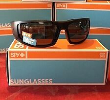 Brand New Spy Optic Tackle  Sunglasses Matte Black Happy Grey Green Polarized