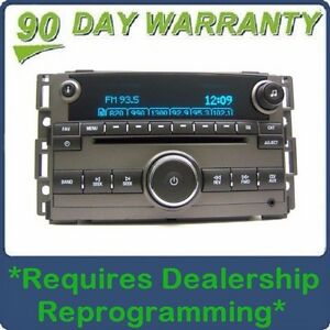 GMC Chevy HHR OEM Radio Stereo MP3 AUX CD Player GREY Receiver OEM Factory