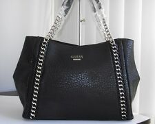 Guess black jensyn classic large shoulder bag satchel