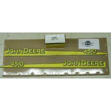 John Deere 4510 hood trim strip set decals LVU12289 LVU12290