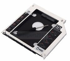 2nd HD SSD SATA Hard Drive Caddy for Macbook Pro MBP Unibody Optical Drive Bay