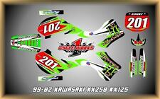 Kawasaki KX125-250 99-02  SEMI CUSTOM GRAPHICS KIT
